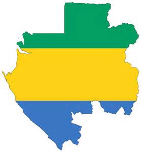 Map Gabon Flag