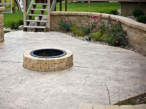 concrete fire pits in decorative concrete