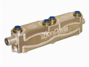 14 Plate Dual Heatexchanger W   1 5 U0026quot  Oulets  U2013 Ron Davis