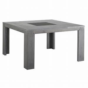 Table A Rallonge Pas Cher : last meubles table carr e sydney gris 140cm x x 140cm pas cher achat vente tables ~ Teatrodelosmanantiales.com Idées de Décoration