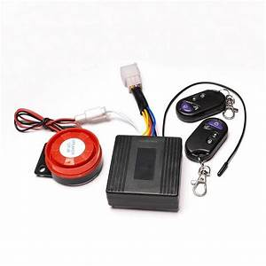 New Motorcycle Atv Quad Alarm System Set W   Remote Engine Start P Tk13