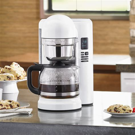 Shop for kitchenaid coffee maker filter online at target. KitchenAid KCM1204WH White 12 Cup One Touch Coffee Maker - 120V
