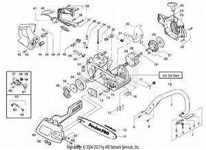 Poulan Sm4018 Gas Saw Parts Diagram For Chassis  U0026 Handle Assembly
