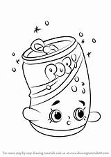 Soda Coloring Shopkins Draw Drawing Pops Drawingtutorials101 Step Pages Pop Printable Drawings Bottle Shopkin Colouring Template Kleurplaten Learn Tutorials Sheets sketch template