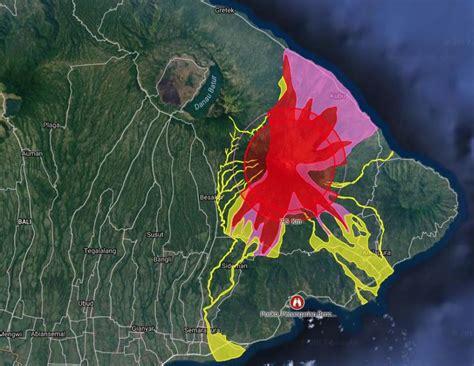 eruption  agung volcano bali aviation color code