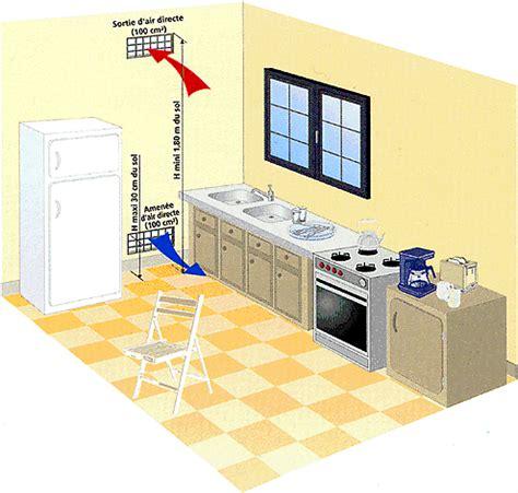 conduit hotte cuisine normes aérations et ventilations obligatoires pour le gaz
