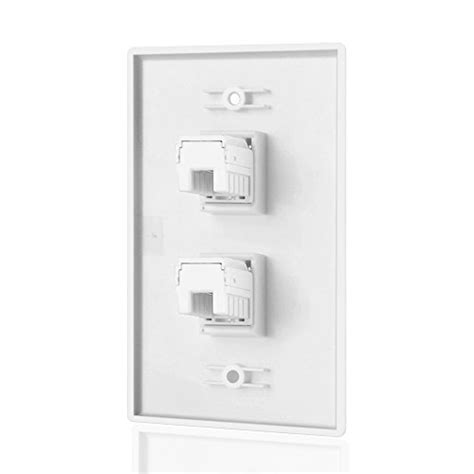 Tnp Ethernet Network Cate Wall Plate Dual Port