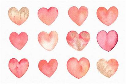 Valentine Clipart Hearts Watercolor Graphics Heart Thehungryjpeg