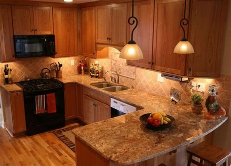 golden oak kitchen cabinets granite ideas for granite with medium warm cherry cabinets