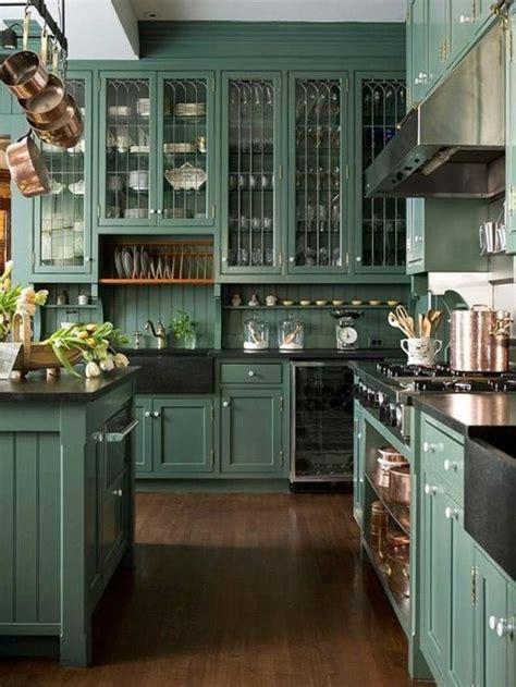 green painted kitchen cabinets pictures peinture pour cuisine 5 id 233 es de couleurs tendances en 2018 6947