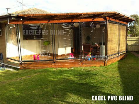 240cm x 240cm heavy duty pvc clear patio cafe blinds