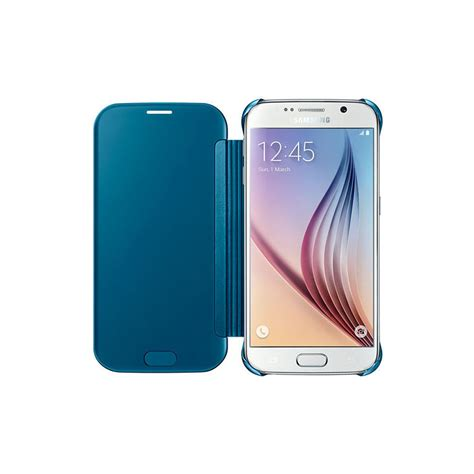clear view cover samsung s6 samsung galaxy s6 edge clear view cover inones leather