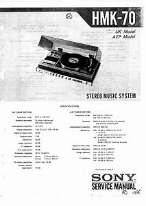 Sony Hmk-70 Service Manual