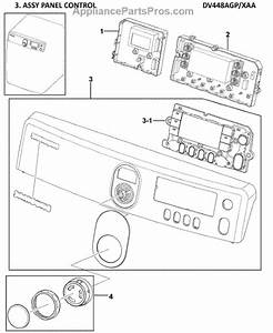 Parts For Samsung Dv448agp  Xaa-0000  Control Panel Parts