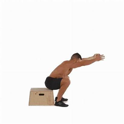 Squats Box Bodyweight Workout Squat Jump Different