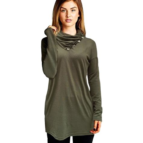 tunic blouses for tops for tunic green cowl blouse draped shirt