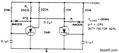 Low Frequency Oscillator Flasher Circuit