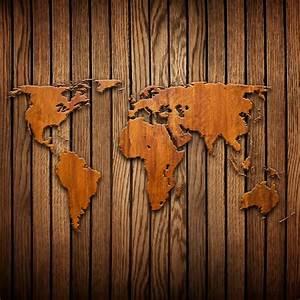 Carte Du Monde En Bois : papier peint carte du monde sculpture sur bois planche affaires ~ Teatrodelosmanantiales.com Idées de Décoration