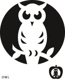 Printable Owl Pumpkin Carving Templates