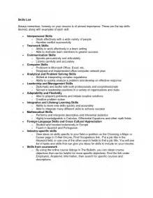 general skills and abilities for resume collection resume