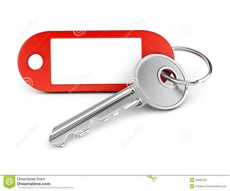 Empty Label Keyring Stock Image. Image Of Macro
