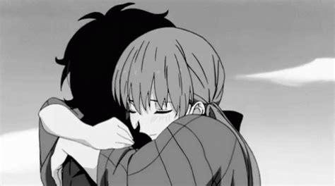 Anime Kiss Gif Cute Anww Hug Gif Anww Hug Kiss Discover Share Gifs
