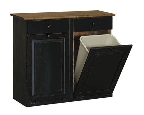double trash recycling bin cabinet wood double trash bin cabinet with drawers peaceful valley