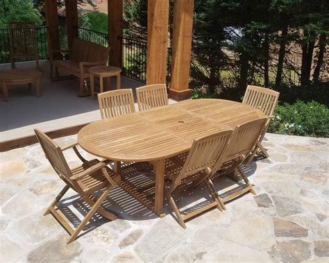 buy samui outdoor teak extension tables wholesale