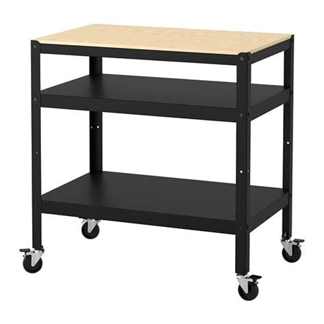 BROR Trolley Black/pine plywood 85 x 55 cm   IKEA