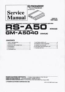 Service Manual For Pioneer Gm