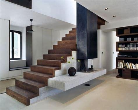 Gerade Treppe Modern by Gerade Laufplattentreppe Modernes Design Holz Beton Regale