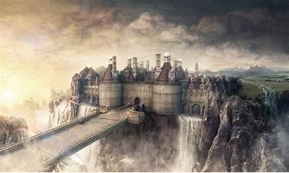 Castle Fantasy Wallpapers Backgrounds Background Medieval Castles