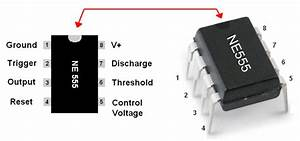 555 Timer Chip Diagram