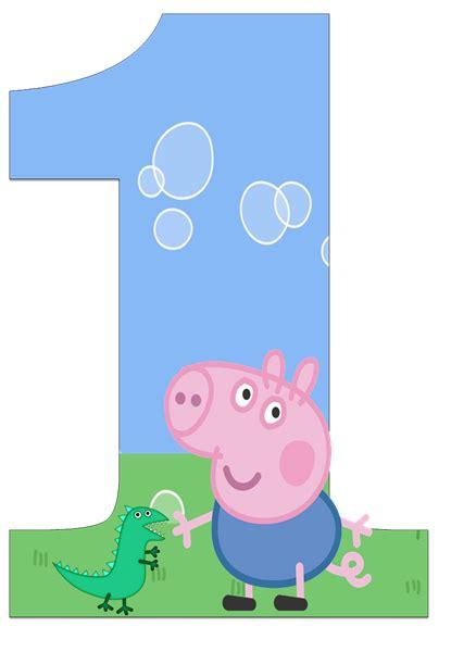 peppa pig george birthday invitations  colors