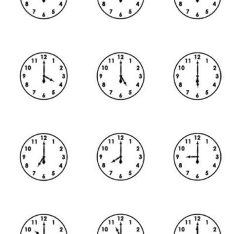 printable clock faces free printable worksheets free