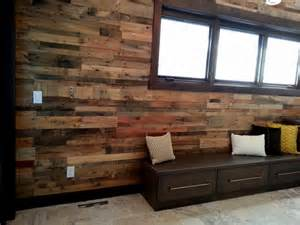 Paneling For Basement Walls Home Depot by Recycled Pallet Wood Paneling Sustainable Lumber Company