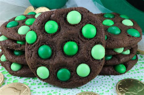 st patricks day mint mm cookies  sisters