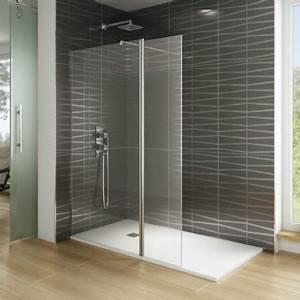 Paroi de douche verre fixe volet pivotant modele screen for Paroi douche porte pliante