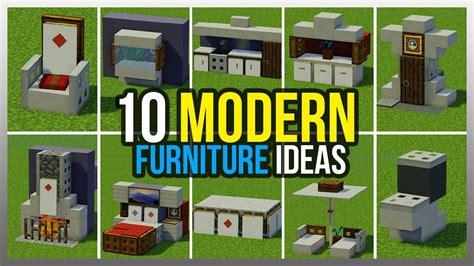 ️ 10 Modern Furniture Ideas! (minecraft)