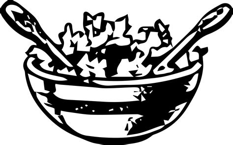 salad clipart black and white free salad bowl cliparts free clip free