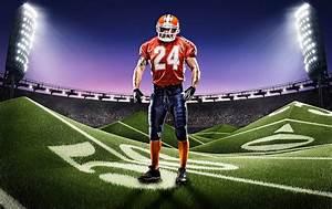 Football Field Photoshop Template Mockup