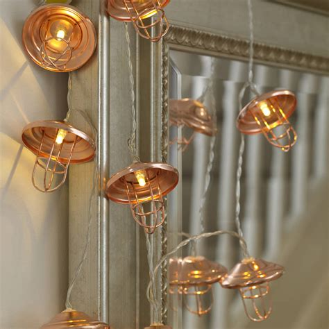 lantern string lights copper lantern string lights by garden selections