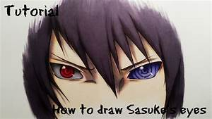 How To Draw Sasuke's Sharingan & Rinnegan Eyes - Drawing ...