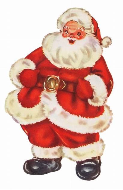Santa Christmas Claus Clipart Ornaments Swimming Retro