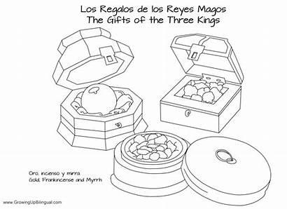 Coloring Pages Printable Reyes Three Frankincense Myrrh