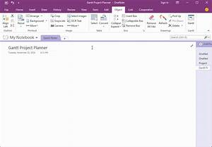 Gantt Project Planner Template For Onenote