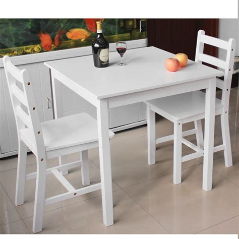 white wooden table l wooden small dining table and 2 chairs set contemporary