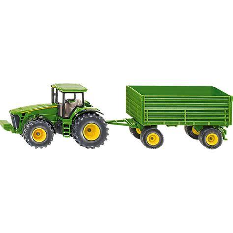 traktor mit anhänger siku 1953 traktor mit anh 228 nger 1 50 deere mytoys