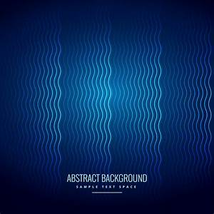 Blue, Background, With, Wavy, Lines, Pattern
