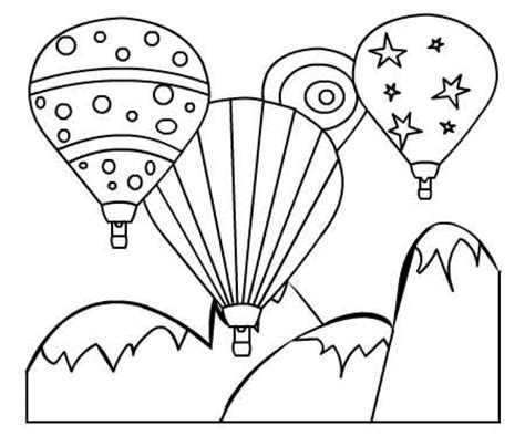 colorful hot air balloon printable coloring page  kids